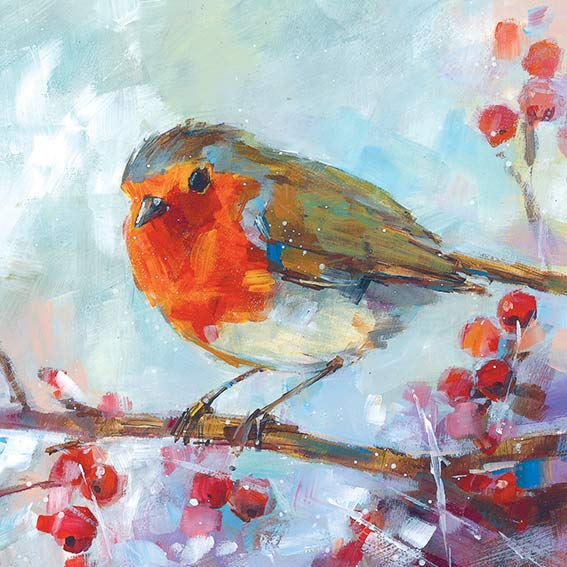 cards2016 Robin and Berries