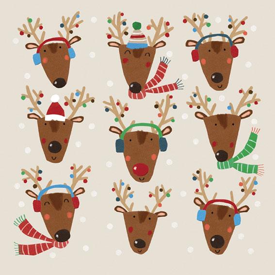 cards2016 Santa's Reindeer