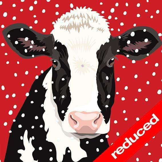 Self Help Africa Christmas Card Friesian Cow