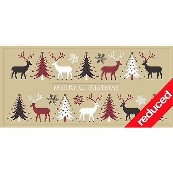 Self Help Africa Christmas Card Reindeer and trees