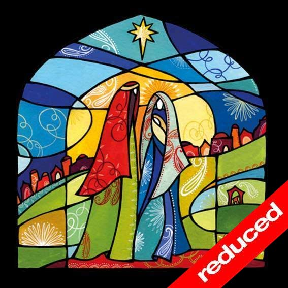 Self Help Africa Christmas Card Stained Glass Nativity